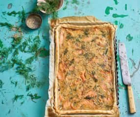 Tarte de salmão e tomate seco