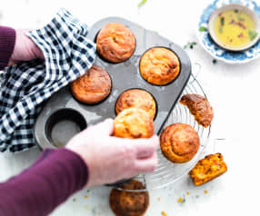 Muffins au crottin de Chavignol