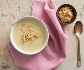 Creamy chicken cauliflower soup