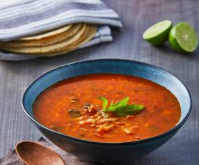 Meksykańska zupa cebulowo-grzybowa