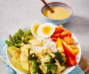 Gemüse-Saté-Bowl