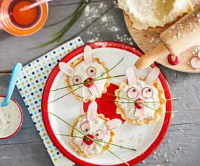 Tartelette aux radis et fromage frais