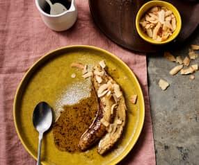 Banane sottovuoto con salsa al cocco e cannella