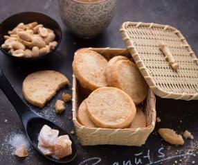 Biscotti al burro, arachidi e zenzero