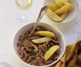 Zürcher Geschnetzeltes mit Kartoffeln