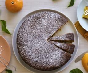 Winterkuchen mit Mandarinen und Mandeln