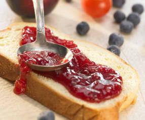 Pflaumen-Blaubeer-Tomaten-Konfitüre