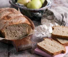 Jabłkowy chleb pszenno-żytni na zakwasie