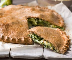 Empanada integral de brócoli, kale y queso