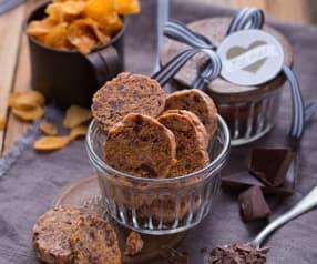 Biscotti al burro, corn flakes e cioccolato