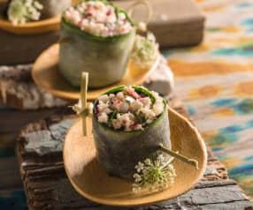 Rollitos de ensalada de surimi