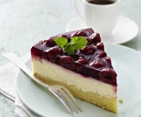 New York Cheesecake mit Kirschtopping