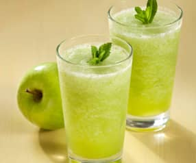 Granizado de manzana con menta