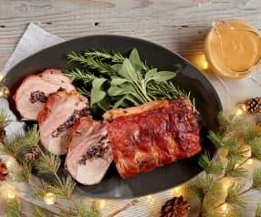 Stuffed Pork Loin with Apple Cider Sauce