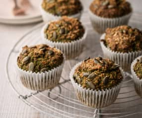 Spinach and Carrot Muffins