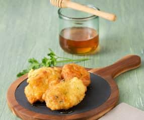 Tortillitas de bacalao con miel  (HESTAN CUE)