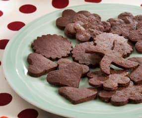 Galletas crujientes de chocolate