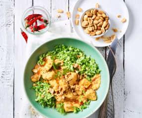 Paprika-Hähnchen mit Brokkoli-Couscous