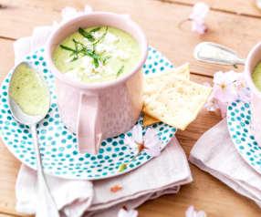 Soupe froide de courgette à la grecque