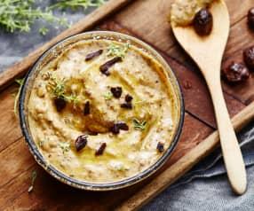 Pesto d'olive, chèvre et thym