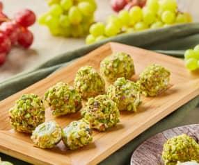 Polpettine di uva e formaggio ai pistacchi