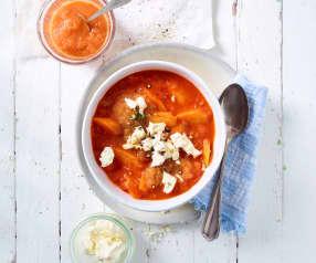 Zuppa di pomodoro e mango