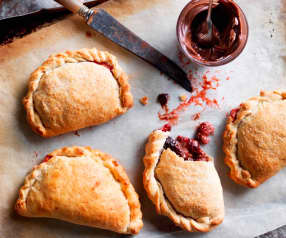 Strawberry chocolate calzones