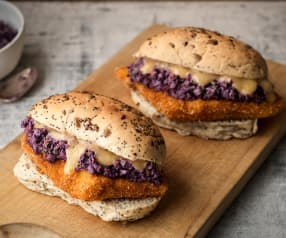 Crispy Fish Sandwiches with Honey Lime Slaw