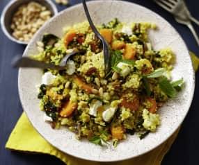 Gemüse-Couscous mit Aprikosen und Pinienkernen