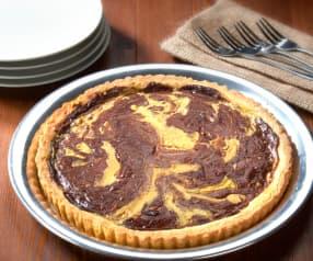 Quiche de chocolate y vainilla (sin gluten)
