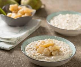 Porridge con composta di pere