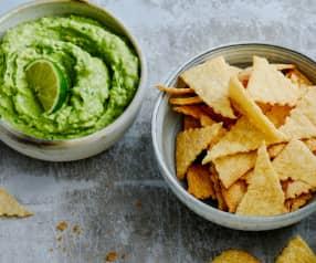 Chips croustillantes et guacamole