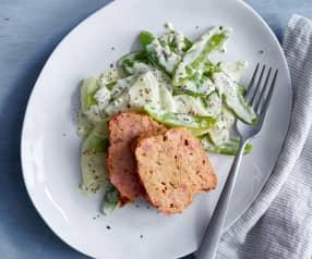 Fleischkäse con verdure alla senape