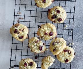 Cookies al cioccolato e mirtilli rossi