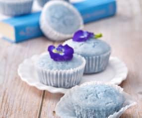Nyonya Blue Pea Flower Huat Kuih (Steamed Cupcakes)