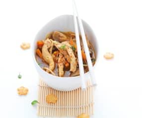 Soupe de poulet thaïe