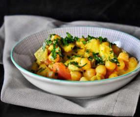 Kichererbsen-Gemüse-Curry mit Rupp Gouda