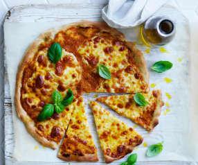 Spelt Margherita pizza