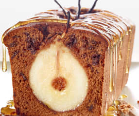 Schokolade-Birnen-Cake