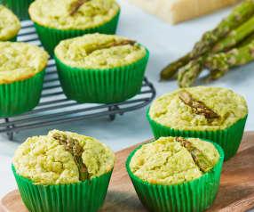 Muffins con espinacas, espárragos y guyere