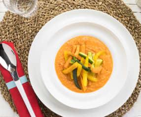 Crema di pomodori con verdure croccanti (1 porzione)