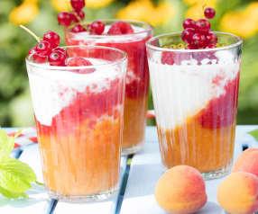 Marillen-Himbeer-Joghurt-Drink