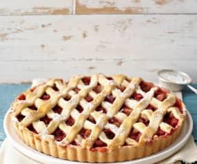 Rebarborovo-jahodový koláč