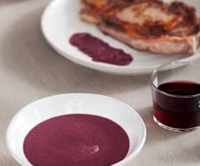 Salsa de cebolla roja y vino tinto (para carnes rojas)