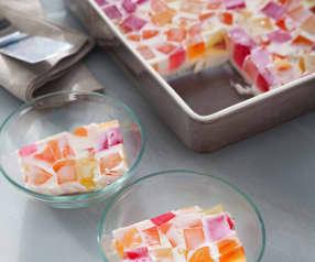 Postre de gelatina de colores