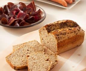 Pan de molde con cerveza negra y mostaza a la antigua