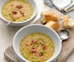Zupa grochowa z chorizo