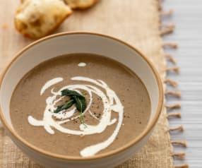 Zupa grzybowa z białą fasolą