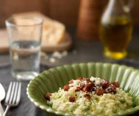 Hráškové rizoto s pancettou