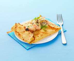 Gluten Free Savory Crêpes with Seafood